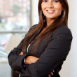 Arms crossed businesswoman - Foto Stock