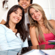 Friends studying — Stockfoto #7708237