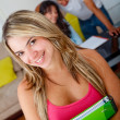 Beautiful university student — Stock Photo