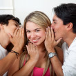 Friends gossiping — Stock Photo
