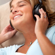 Woman listening to music — Stock Photo #7708276