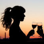 Couple toasting — Stock Photo