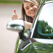 Stock Photo: Womin car
