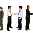 Business hand shake - Stock Photo
