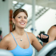 Woman at the gym - cardio - 图库照片
