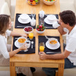 Couple having breakfast — Stock fotografie