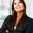 Arms crossed businesswoman — Stock Photo #7708494