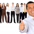 Royalty-Free Stock Photo: Business man with thumbs up
