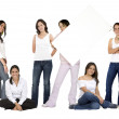 Casual group of girls — Stock Photo