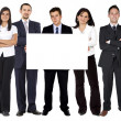 Business team - banner ad — Stock Photo