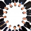 Circle of business men — Stock Photo