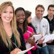 Royalty-Free Stock Photo: Students in a row