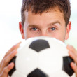 Man with a football — Stock Photo #7708721
