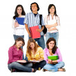 Casual students — Stock Photo