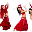 Beautiful belly dancer - Stock Photo