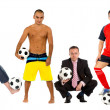 Football fans - Foto Stock