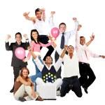 Happy group of — Stock Photo