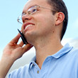Man talking on the mobile - Stock Photo