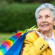 Stock Photo: Old lady shopping