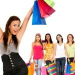 Shopping women — Stock Photo