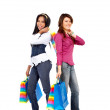 Stock Photo: Girls out shopping