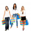 Foto Stock: Female shoppers