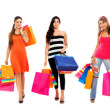 Large group of shoppers — Stock Photo