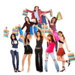 Fashion shopping women — Stock Photo