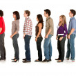 Casual queueing — Stock Photo