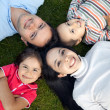 Family outdoors - Foto Stock