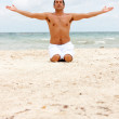 Man doing yoga — Stock Photo #7709844