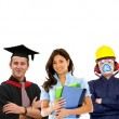 Professional occupations — Stock Photo