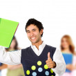 student happy — Stockfoto