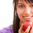 Healthy eating girl — Stock Photo