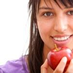 Healthy eating girl — Stock Photo