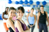 Group of in a gym — Stock Photo