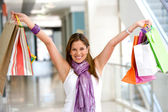 Girl with shopping bags — Stock Photo