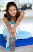 Gym woman exercising — Stock Photo
