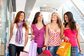 Friends shopping — Stock Photo