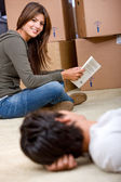 Couple moving homes — Stock Photo