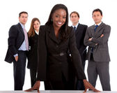 Business woman and her team — Foto Stock