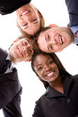 Business team - heads together — Stock Photo
