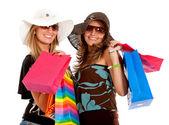 Amici dello shopping — Foto Stock