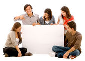 Banner ad - happy friends — Stock Photo