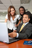 Business team on a laptop — Stock Photo