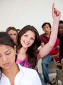 Student participating — Stock Photo