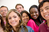 Multi-ethnischen gruppe von studenten — Stockfoto