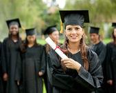 Female graduate — Stock Photo