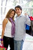 Mutlu çift alışveriş — Stok fotoğraf