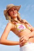 Bikini mujer sonriendo — Foto de Stock